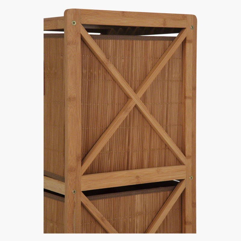 Bamboo bathroom cabinet with 2 drawers cabinets - Bathroom storage cabinet with drawers ...