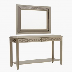Amber Console with Mirror