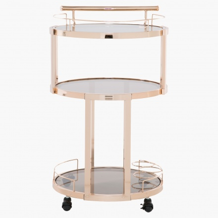 Amber Round Serving Trolley