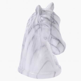 Marmoreal Horse Head Bookends