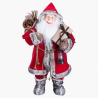 Traditional Standing Santa Decoration - 42x28x80 cms