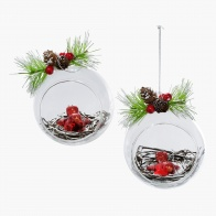 Traditional Hanging Nest Bauble - Set of 2