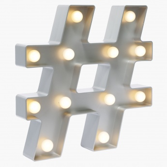 Hashtag wall light